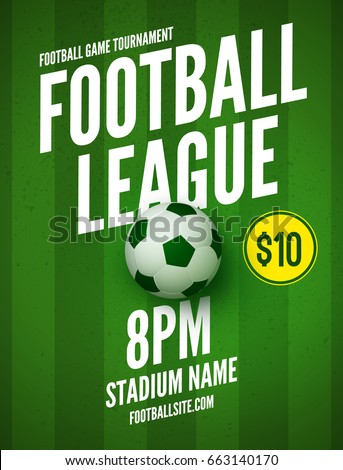 soccer league flyer design