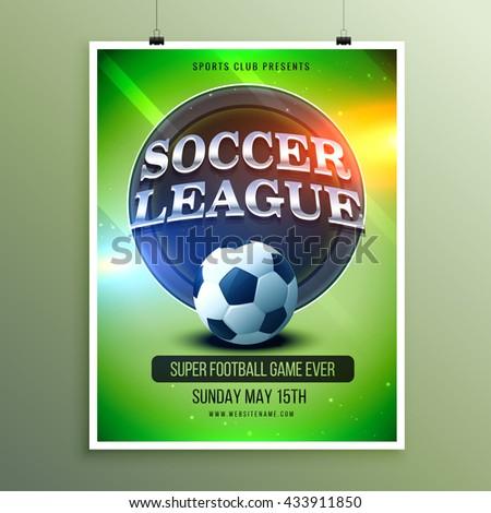 soccer league presentation flyer