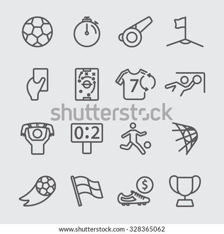 Soccer line icon