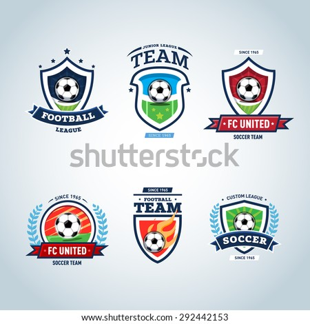 soccer logo football logo set