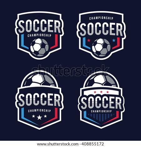 Soccer logos american logo sports stock vector illustration 408855172