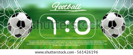 soccer or football black banner