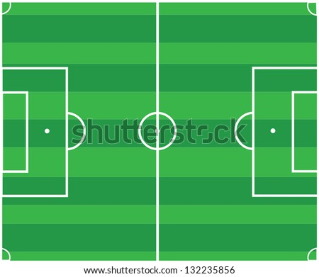 Soccer pitch vector design