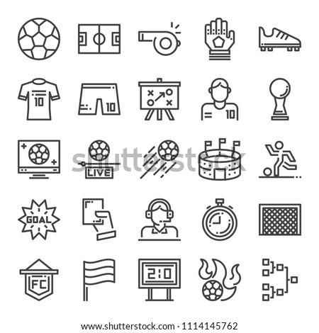 soccer pixel perfecr icons, vector line editable stroke (48x48)