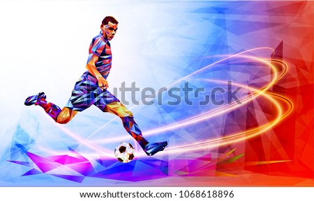 soccer player against the