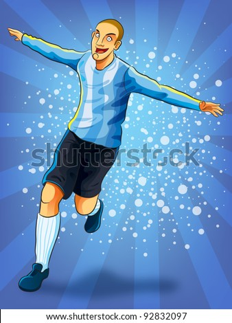 soccer player celebrating goal