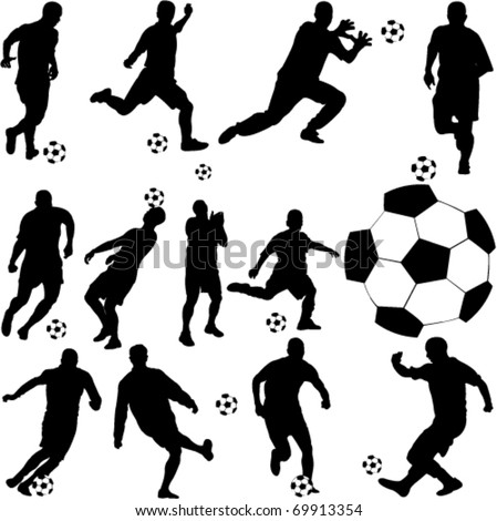 soccer player collection - vector