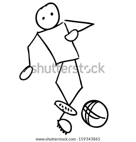 Doodle Soccer player set