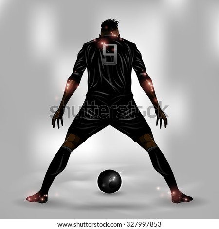 soccer player getting ready to