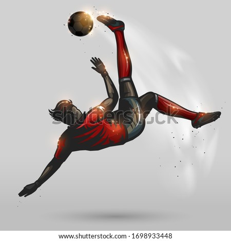 soccer player high overhead