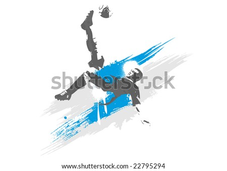 soccer player in vector format