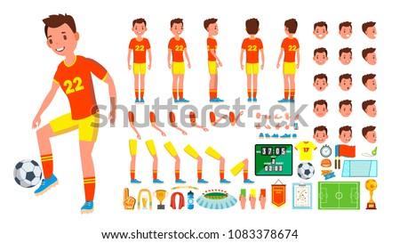 soccer player male vector