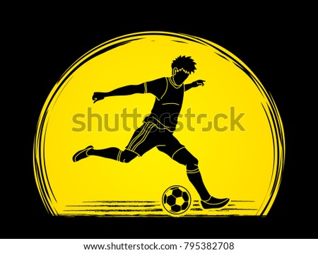 soccer player running and