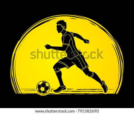 soccer player running with