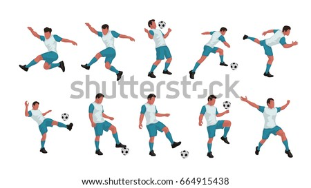 soccer player set