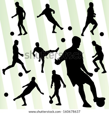 soccer player set vector