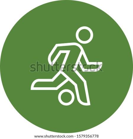 Soccer Player Striker Attack Outline Icon