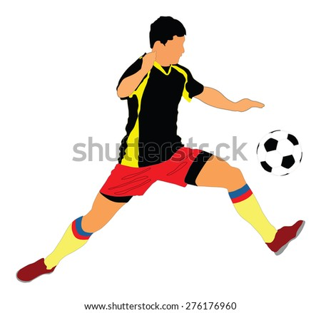 soccer player vector isolated