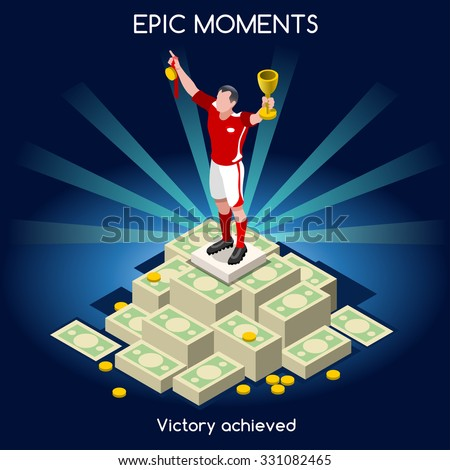 soccer player victory on money