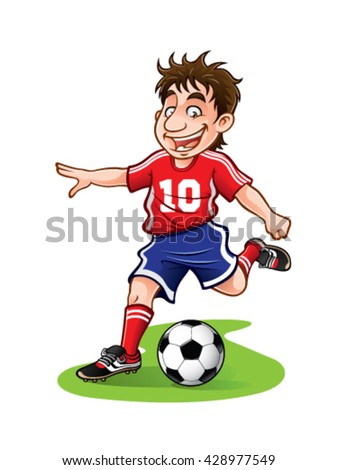 soccer player was going to kick