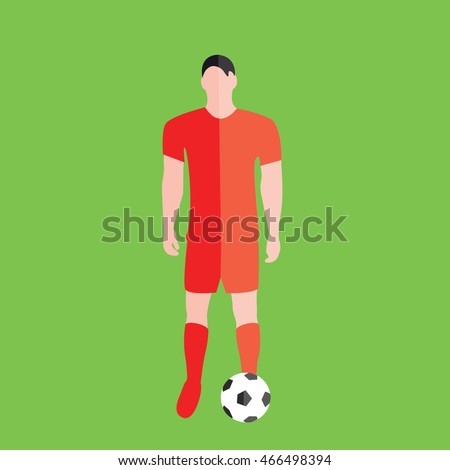 soccer player with a ball on a