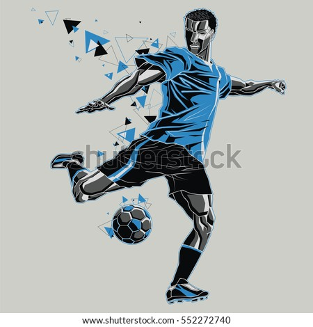 soccer player with a graphic