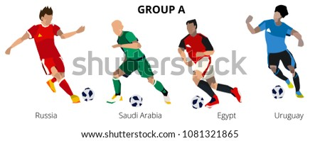 soccer players group a team to