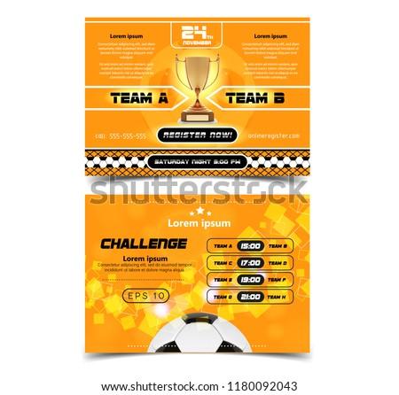 Football Game Event Tournament Invitation Design Template Download