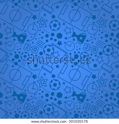 Soccer seamless pattern. Sport vector  background.