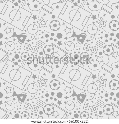 soccer seamless pattern sport