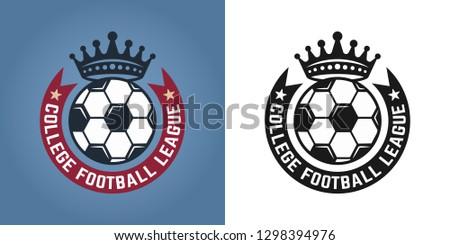 Soccer set of two styles emblems, badges, labels or logos for sport team vector illustration
