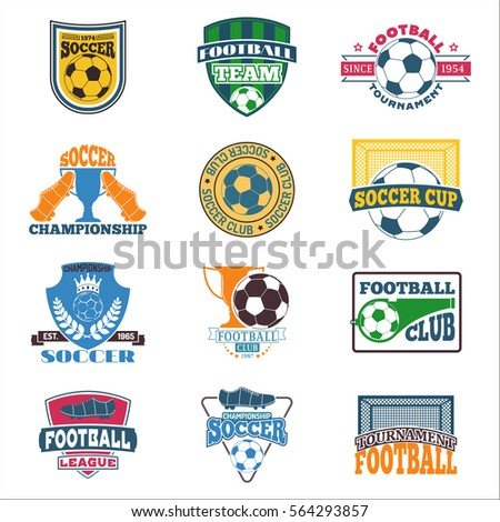 soccer sign vector set