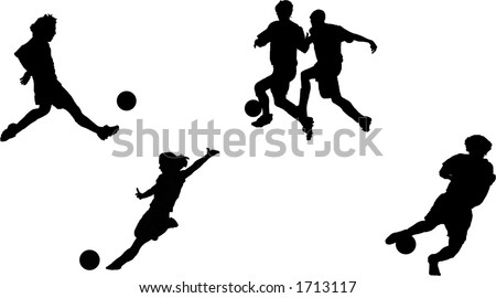 Girl Soccer Silhouette Vector soccer silhouette collection