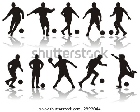 soccer silhouettes (vector)