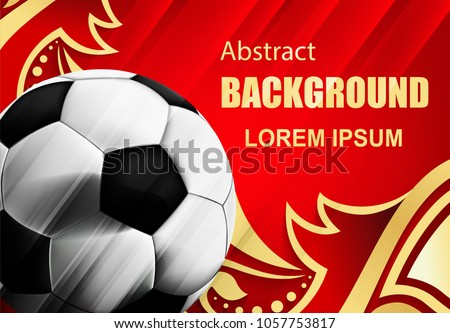 soccer sport background with