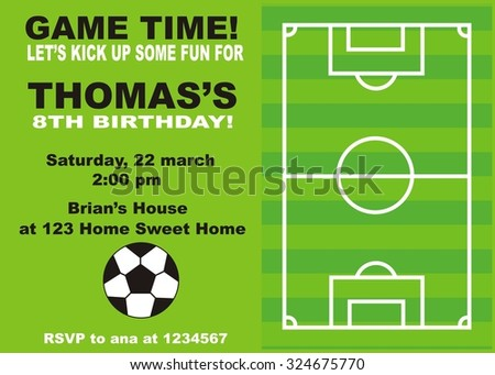 Football Party Vector Invitation Download Free Vector Art Stock