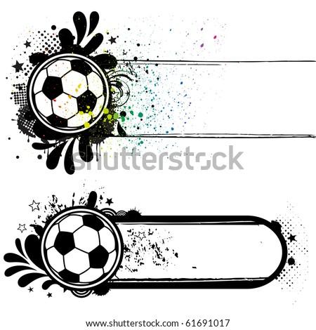 soccer sport design elements - stock vector