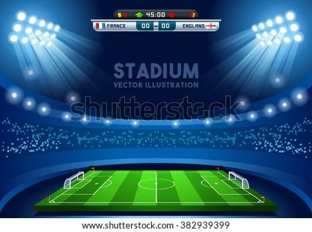 soccer stadium vector soccer
