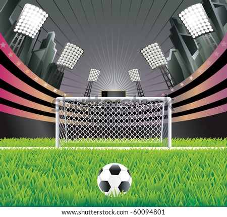 Grass Soccer Stadiums Soccer Stadium With Detailed