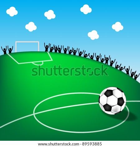 soccer stadium with fans