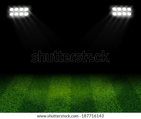 soccer stadium with yellow