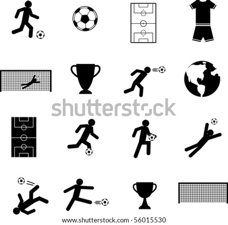 soccer symbols set