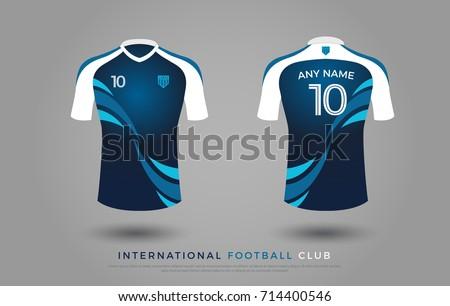e245c9709 soccer t-shirt design uniform set of soccer kit. football jersey template  for football