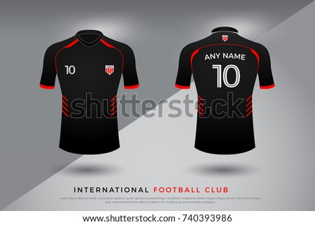 a7b27c9b8 soccer t-shirt design uniform set of soccer kit. football jersey template for  football