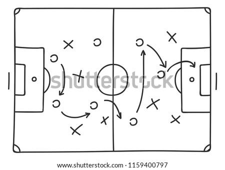 soccer-tactics sketch icon Foto stock ©