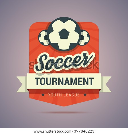 soccer tournament badge   youth