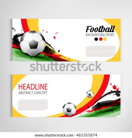 soccer tournament sports banner background download free vector