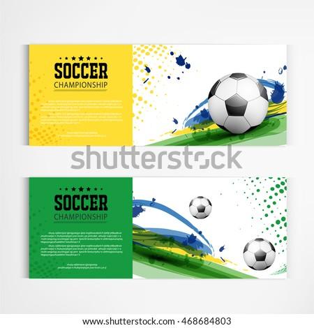 Soccer tournament modern sport banner template vector design.