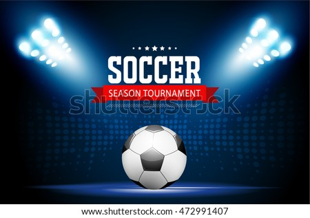 Soccer tournament modern sport posters template vector design.