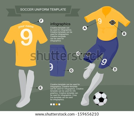 Soccer Uniform Template For Your Football Club Illustration By Vector Design